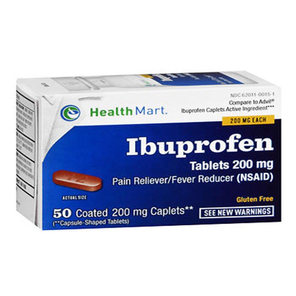 Ibuprofen 200 Mg Pain Reliever Fever Reducer Caplets 50 Caplets